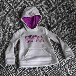 UNDER ARMOUR GRAY/PURPLE COLD GEAR HOODIE [GIRLS]